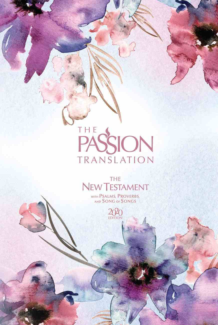 TPT New Testament With Psalms, Proverbs and Song of Songs Passion in Plum (Black Letter Edition) Fabric Over Hardback