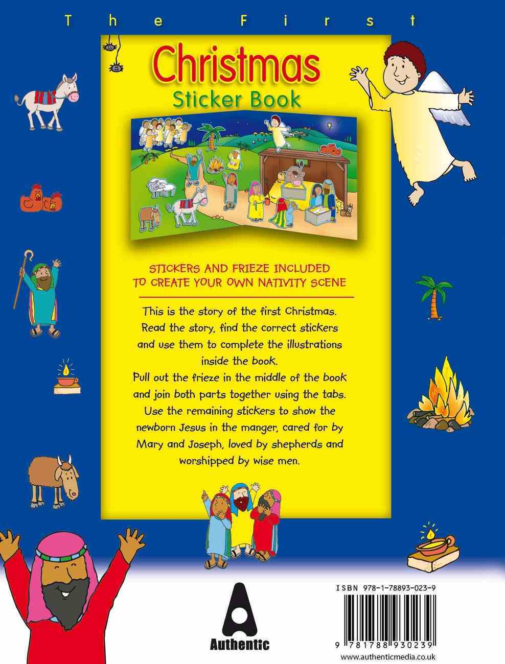 The First Christmas Sticker Book Paperback