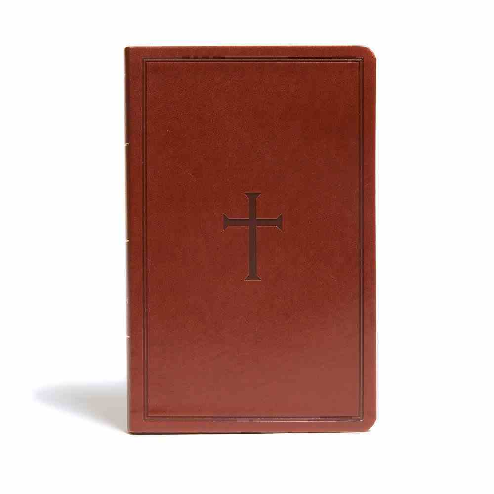 KJV Ultrathin Reference Bible Brown (Red Letter Edition) Imitation Leather
