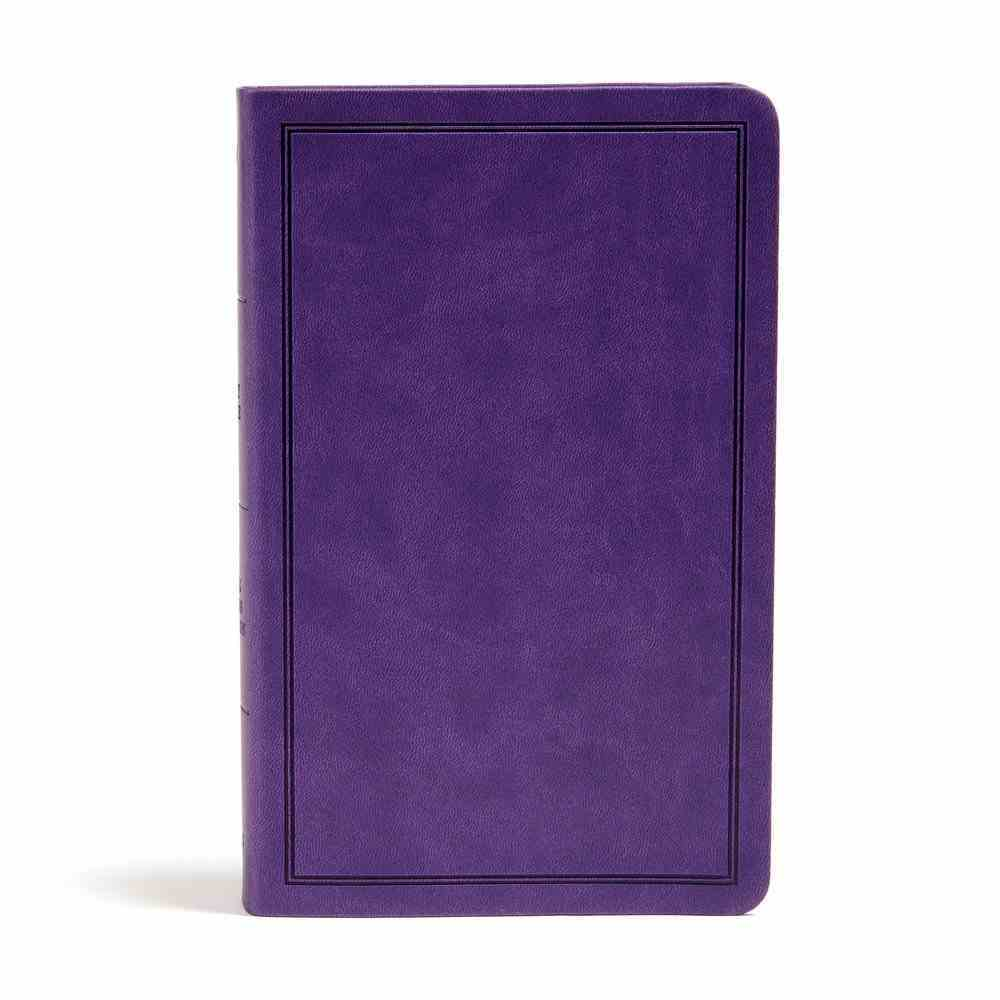 KJV Deluxe Gift Bible Purple (Red Letter Edition) Imitation Leather