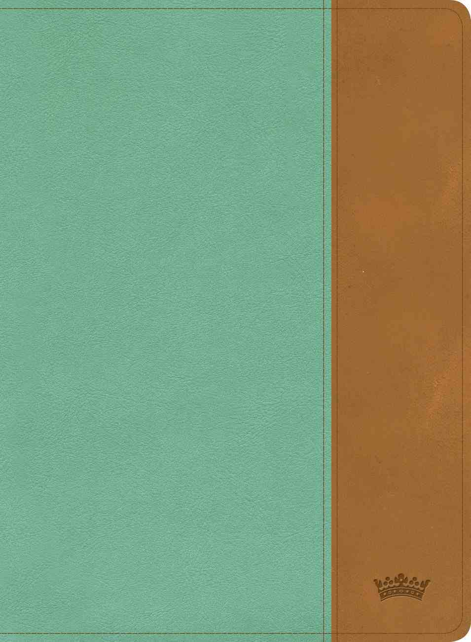 CSB Tony Evans Study Bible Teal/Earth Indexed Imitation Leather