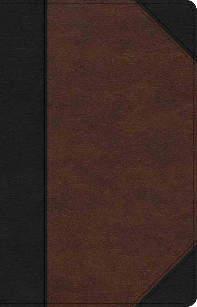 CSB Large Print Personal Size Reference Bible Black/Brown Indexed (Red Letter Edition) Imitation Leather