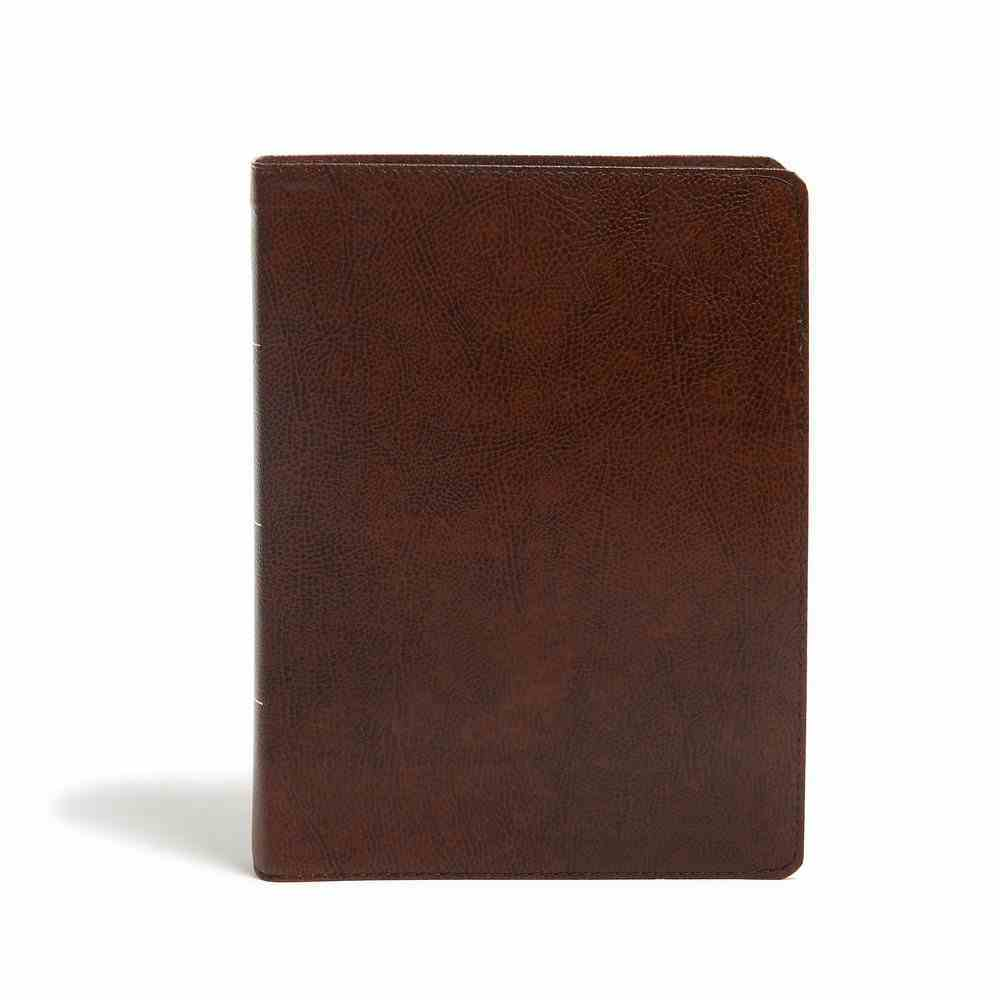 KJV Study Bible Full-Color Brown Indexed Bonded Leather