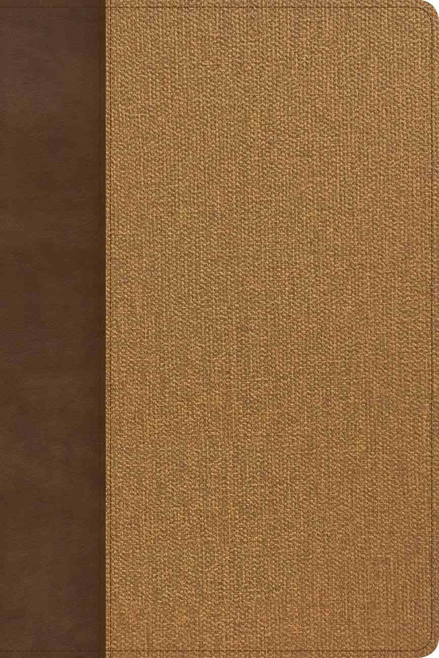 KJV Rainbow Study Bible Brown/Tan Imitation Leather