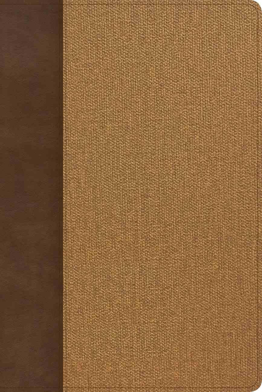 KJV Rainbow Study Bible Brown/Tan Indexed Imitation Leather