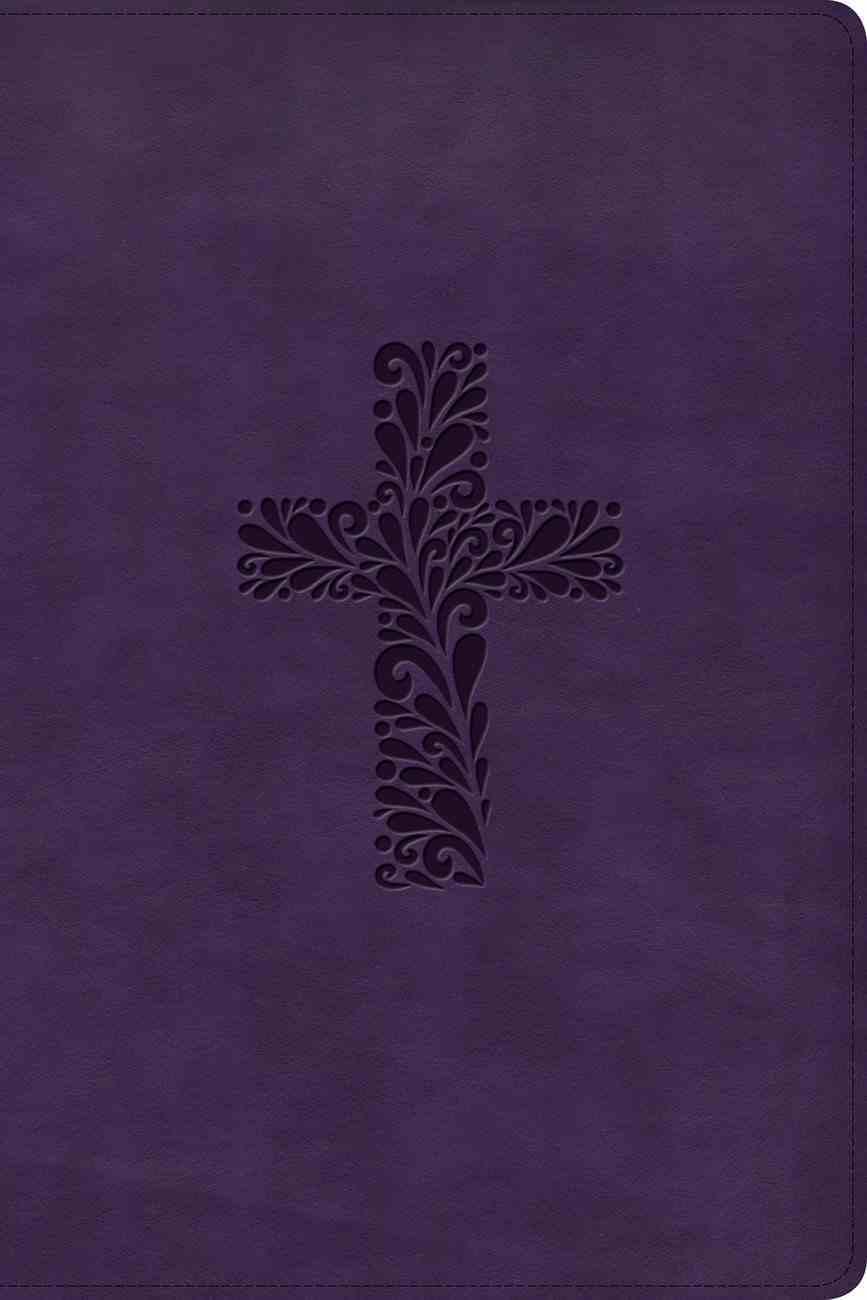KJV Rainbow Study Bible Purple Indexed Imitation Leather