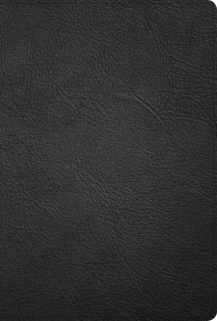 KJV Large Print Ultrathin Reference Bible Black Indexed (Black Letter Edition) Genuine Leather