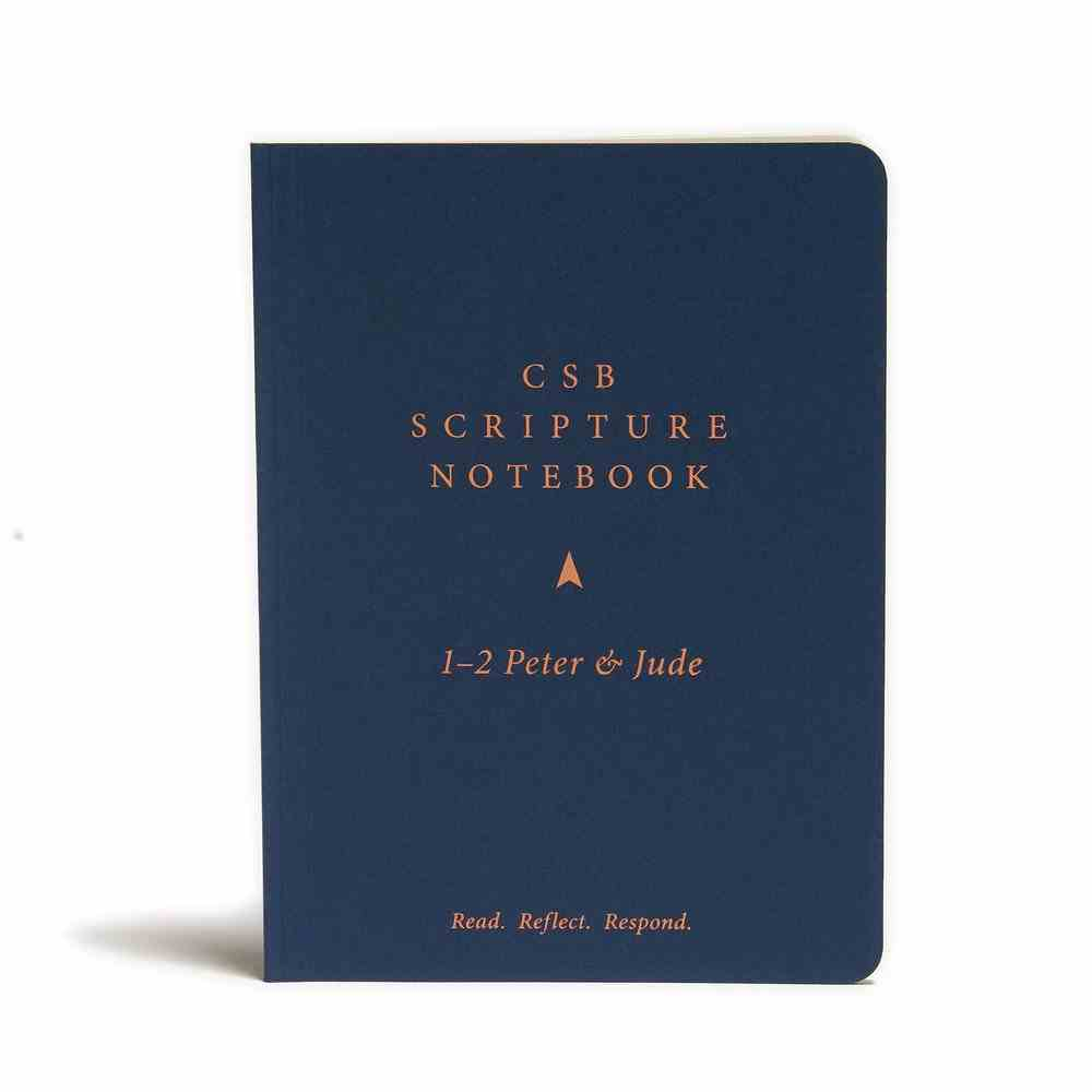 CSB Scripture Notebook 1-2 Peter and Jude Paperback
