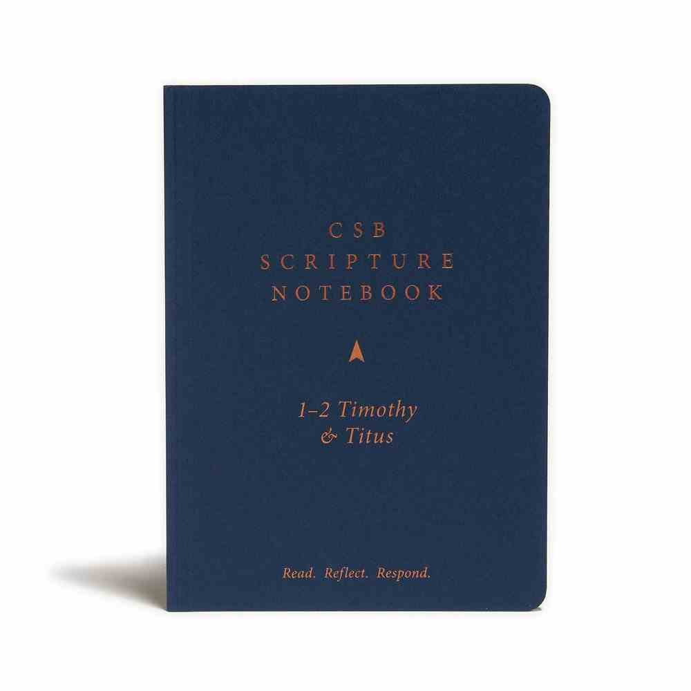 CSB Scripture Notebook 1-2 Timothy and Titus Paperback