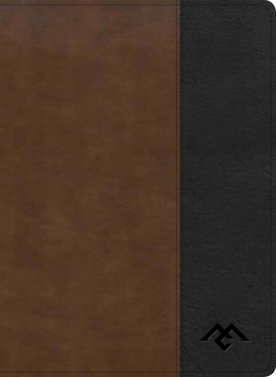 CSB Men of Character Bible Brown/Black (Black Letter Edition) Imitation Leather