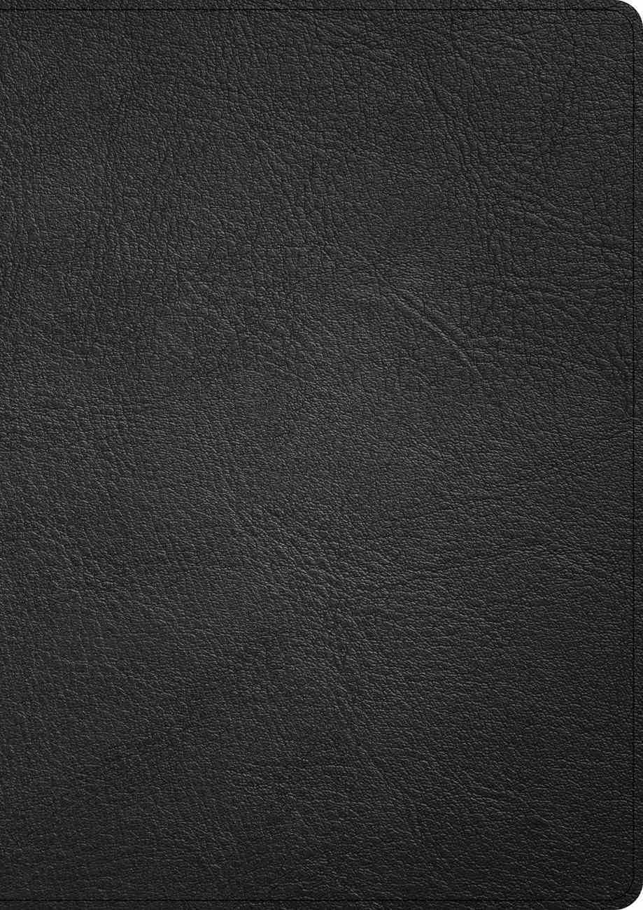 CSB Single-Column Wide-Margin Bible Holman Handcrafted Collection Black (Black Letter Edition) Genuine Leather