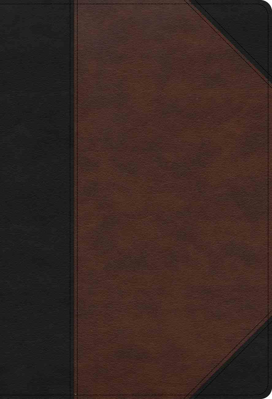 CSB Super Giant Print Reference Bible Black/Brown (Red Letter Edition) Imitation Leather