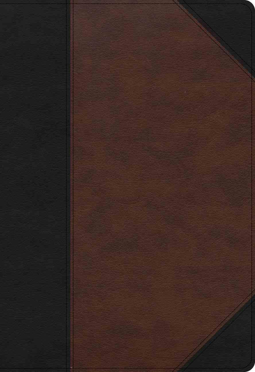 KJV Super Giant Print Reference Bible Black/Brown Indexed (Red Letter Edition) Imitation Leather