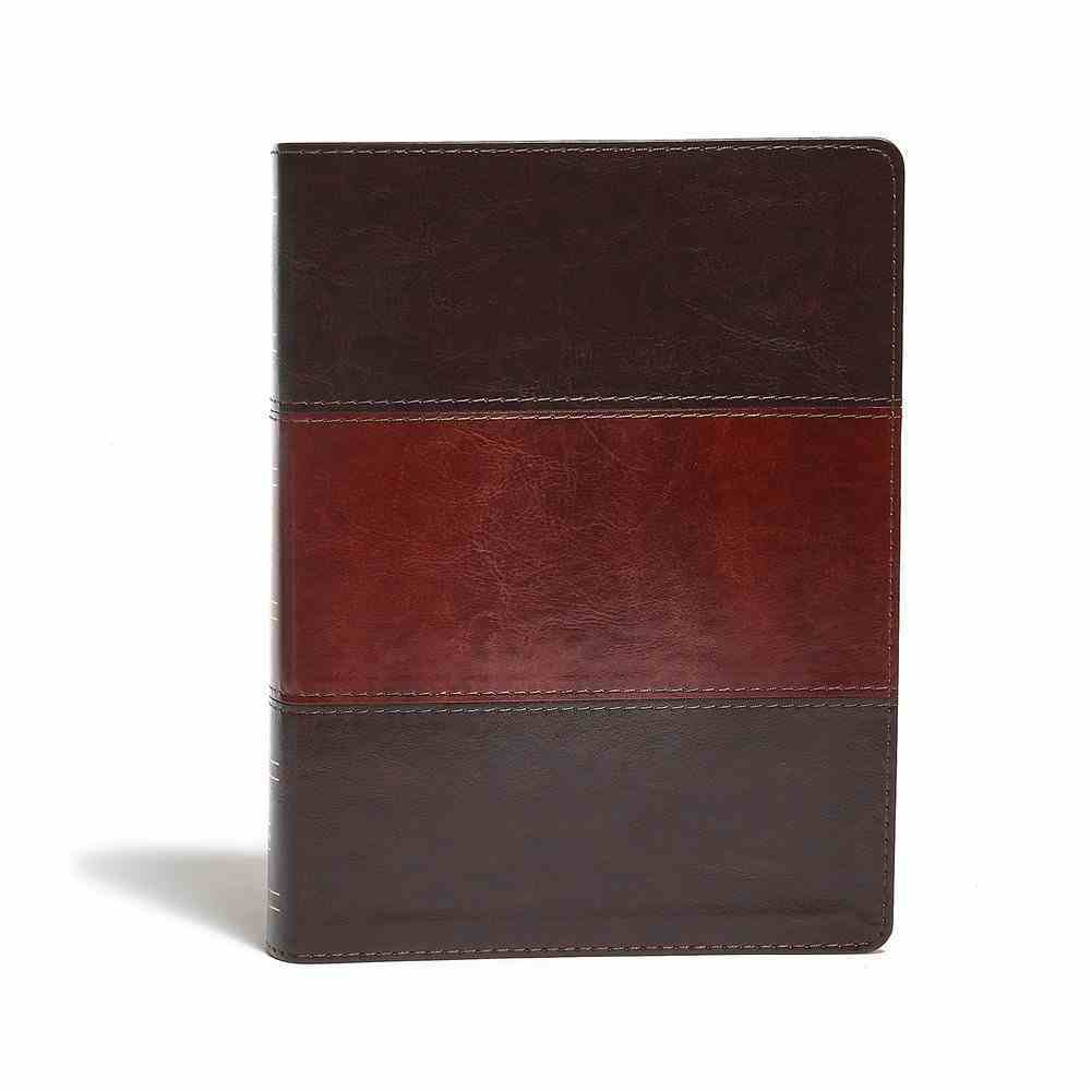 KJV Study Bible Indexed Saddle Brown Imitation Leather