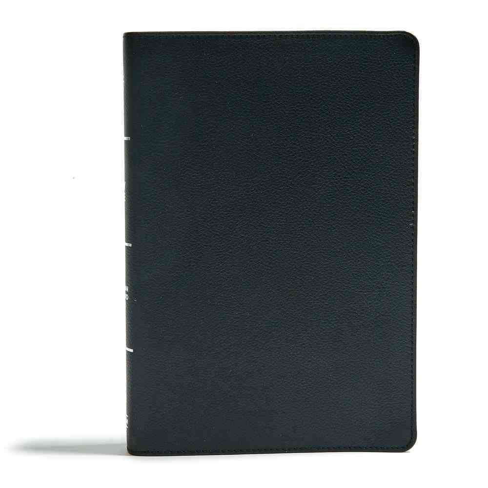 CSB Super Giant Print Reference Bible Black (Red Letter Edition) Genuine Leather