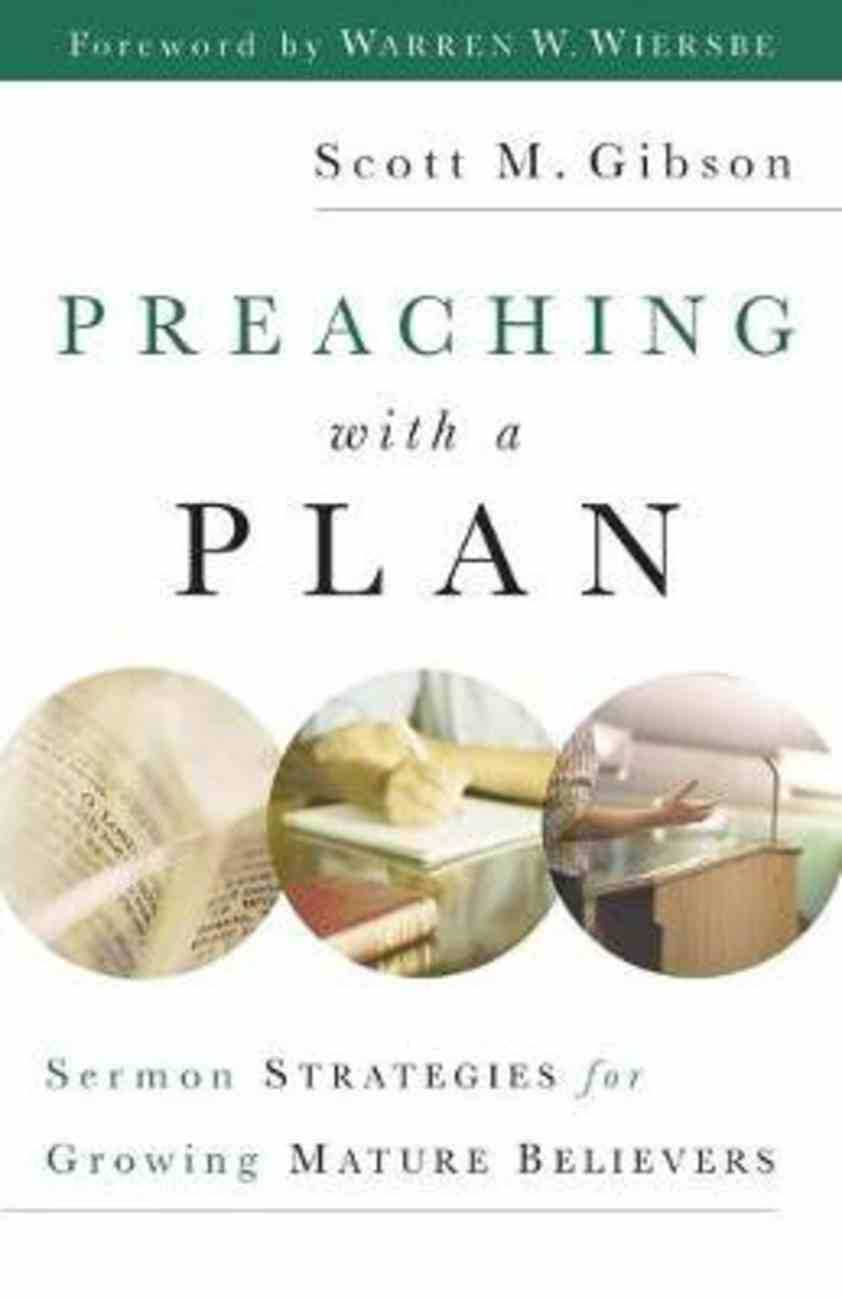 Preaching With a Plan Paperback
