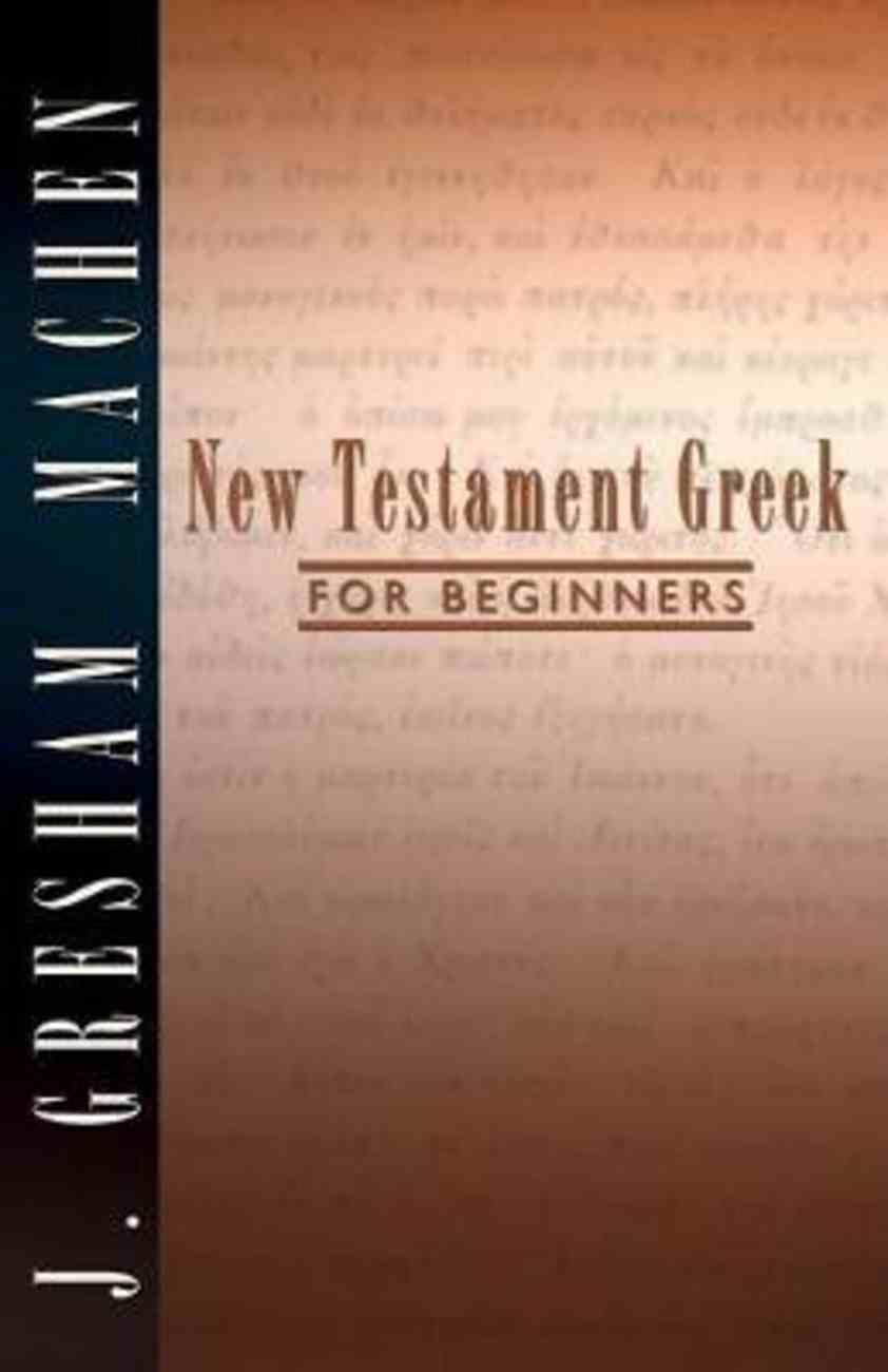 New Testament Greek For Beginners Paperback