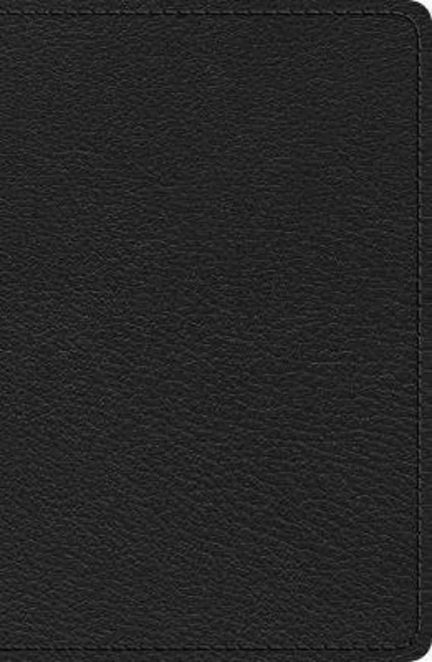 ESV Heirloom Single Column Legacy Bible Black Genuine Leather