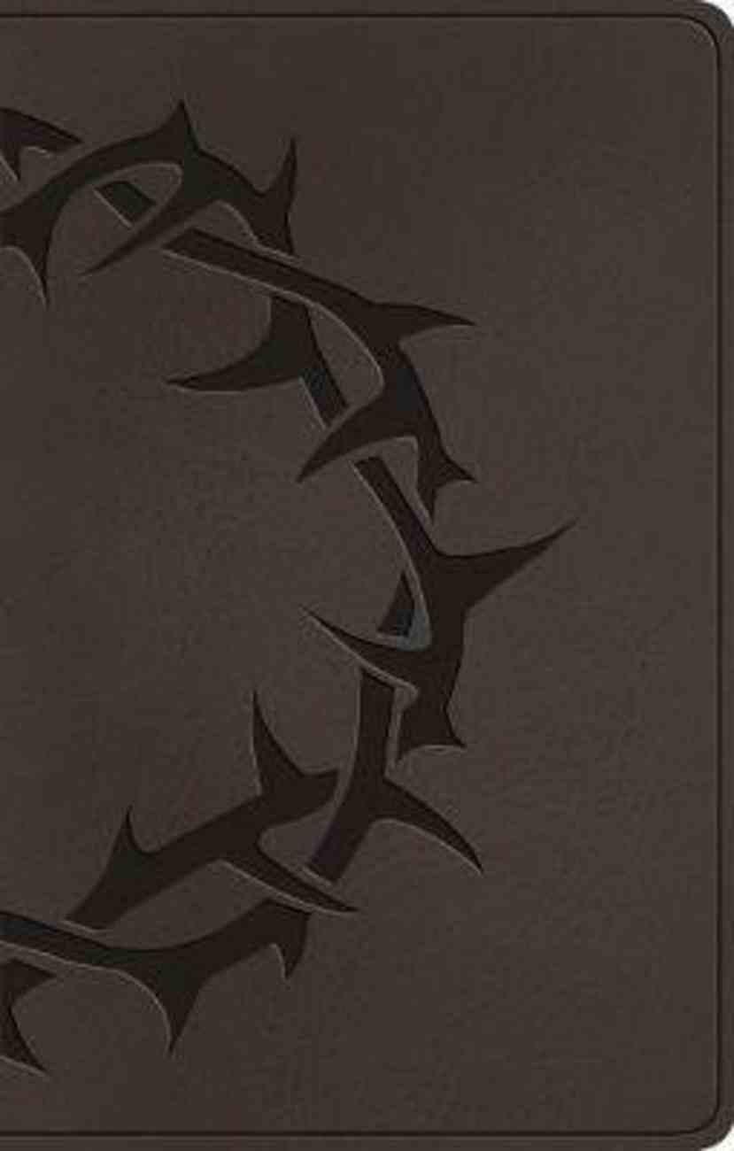 ESV Premium Gift Bible Charcoal Crown Design Imitation Leather