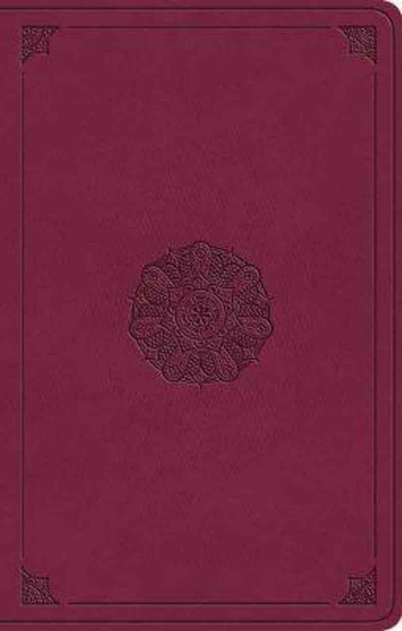ESV Premium Gift Bible Raspberry Emblem Design Imitation Leather