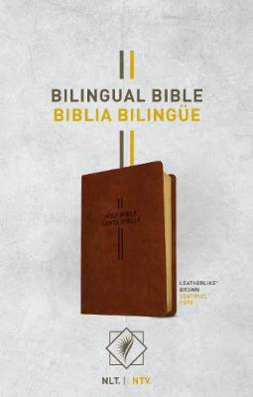 Nlt/Ntv Bilingual Bible/Biblia Bilingue Brown (Black Letter Edition) Imitation Leather