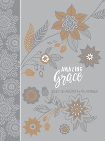 Product: 2021 12-month Planner: Amazing Grace (Gray) Image