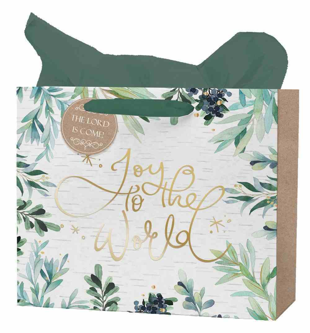 Christmas Large Gift Bag: Joy to the World (Includes One Sheet Of Tissue Paper, Satin Ribbon Handles With Gift Tag) Stationery