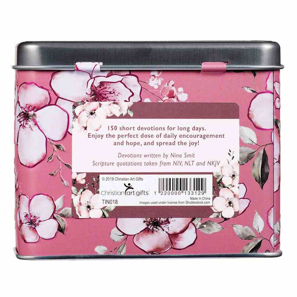 Devotional Cards in a Tin: Joy in His Presence, For Women, 75 Double Sided Cards Box