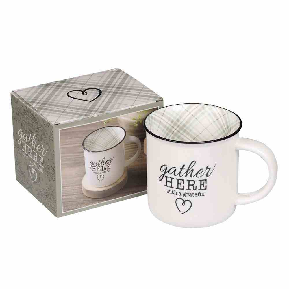 Camp Style Ceramic Mug : Gather Here (330ml) (Gather Here Collection) Homeware