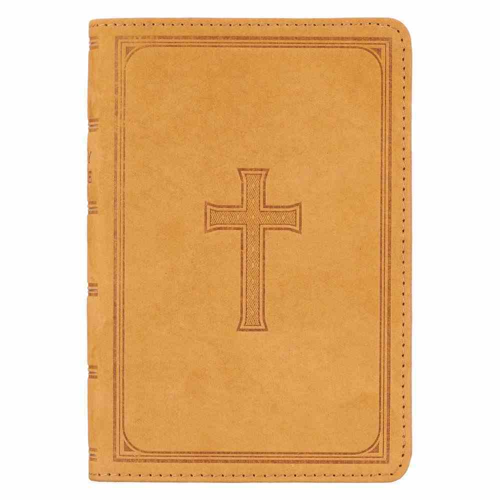 KJV Compact Large Print Bible (Red Letter Edition) Genuine Leather