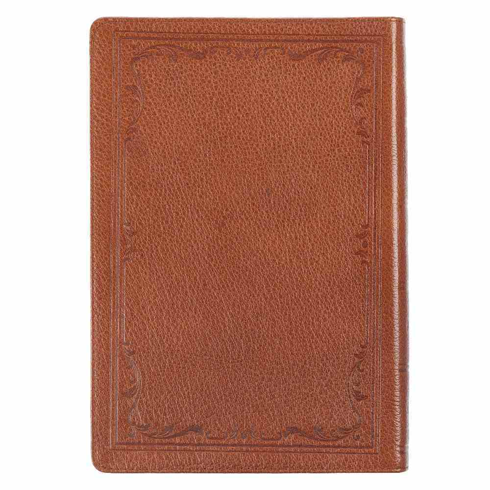 KJV Thinline Large Print Bible Indexed Tan (Red Letter Edition) Genuine Leather