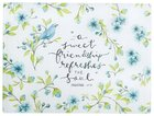 Glass Cutting Board, Large Blue Flowers and Bird (Proverbs 27: 9) (Sweet Friendship Collection) Homeware