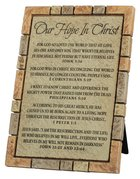 Cast Stone Plaque: Our Hope in Christ, Word Study (Various Scriptures) Plaque