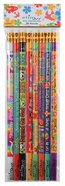 Pencils: Pack of 8 Different Designs With Erasers on the Pencils Pack