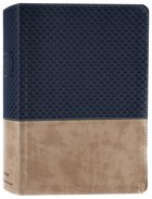 NIV Study Bible Navy/Tan (Red Letter Edition) Fully Revised Edition (2020) Premium Imitation Leather