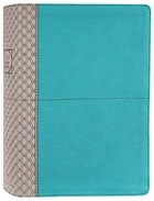 NIV Study Bible Teal/Gray (Red Letter Edition) Fully Revised Edition (2020) Premium Imitation Leather