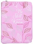 2021 18-month Planner: Be Still And Know (Faux Ziparound) image