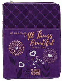 Product: 2021 18 Month Planner: All Things Beautiful (Faux Ziparound) Image