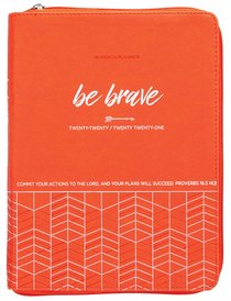 Product: 2021 18-month Planner: Be Brave (Faux Ziparound) Image