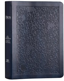 Product: The Passion Translation New Testament With Psalms Proverbs And Song Of Songs (2020 Edn) Large Print Navy Faux Leather Image