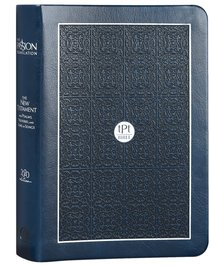 Product: The Passion Translation New Testament With Psalms Proverbs And Song Of Songs (2020 Edn) Compact Navy Faux Leather Image