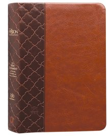 Product: The Passion Translation New Testament With Psalms Proverbs And Song Of Songs (2020 Edn) Compact Brown Faux Leather Image