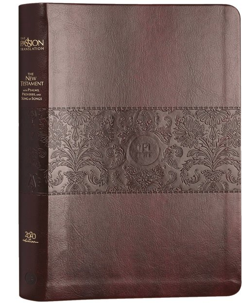 Product: The Passion Translation New Testament With Psalms Proverbs And Song Of Songs (2020 Edn) Large Print Burgundy Faux Leather Image