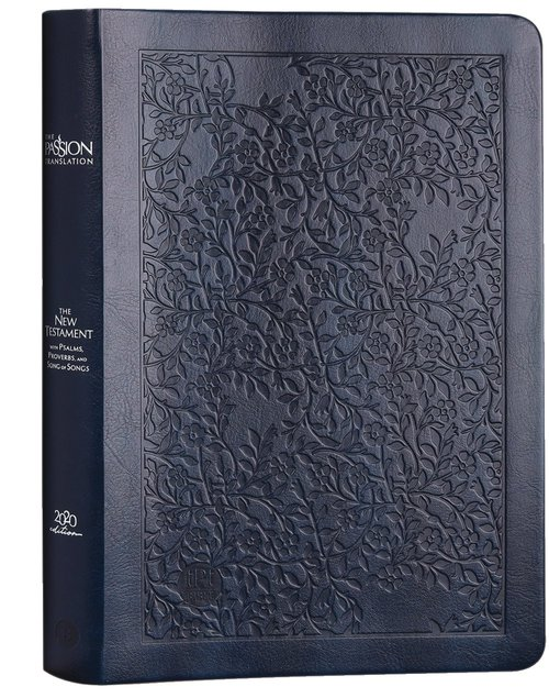 Product: The Passion Translation Nt With Psalms, Proverbs And Song Of Songs (2020 Edn) Navy Large Print Image