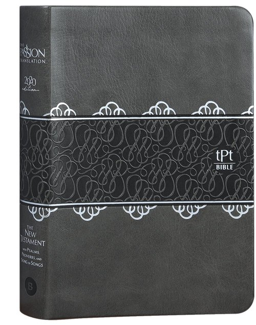 Product: The Passion Translation New Testament With Psalms Proverbs And Song Of Songs (2020 Edn) Compact Charcoal Faux Leather Image