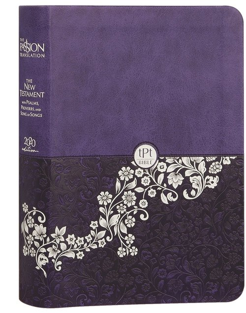 Product: The Passion Translation New Testament With Psalms Proverbs And Song Of Songs (2020 Edn) Compact Violet Faux Leather Image