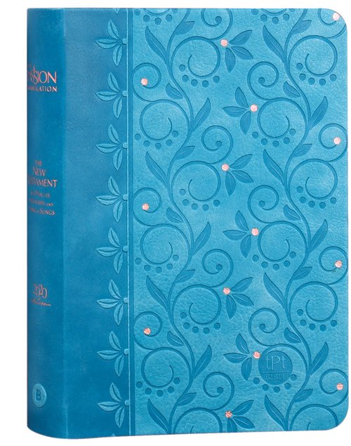 Product: The Passion Translation New Testament With Psalms Proverbs And Song Of Songs (2020 Edn) Compact Teal Faux Leather Image
