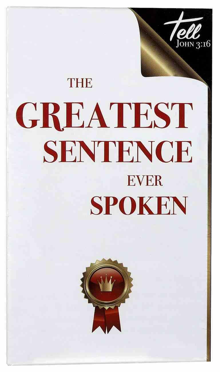 The Greatest Sentence Ever Spoken (25 Pack) Pack