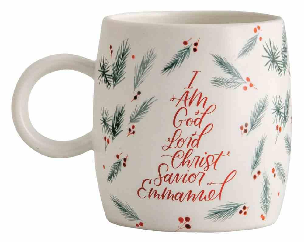 Ceramic Mug: Names of Jesus, Christmas Holly (473 Ml) Homeware