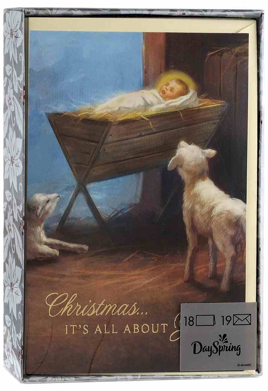 Christmas Boxed Cards: Christmas, It's All About... (1 Cor 16:23 Niv) Stationery